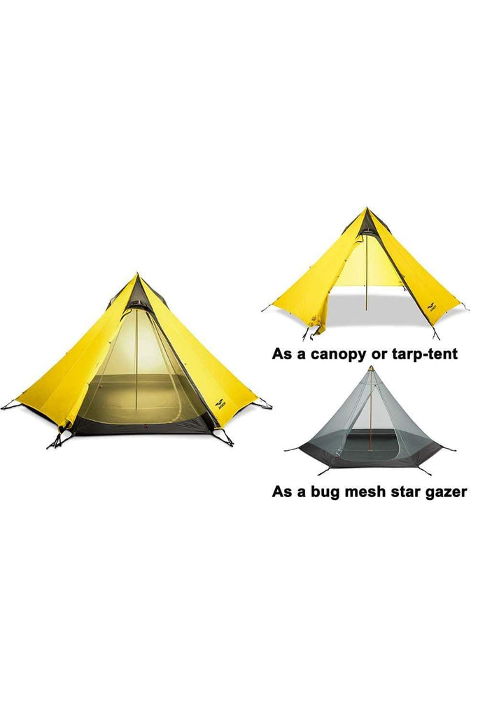MIER 2-3 Person Ultralight Outdoor Camping Tent Waterproof Backpacking Pyramid Tent, 3 Season tent MIER