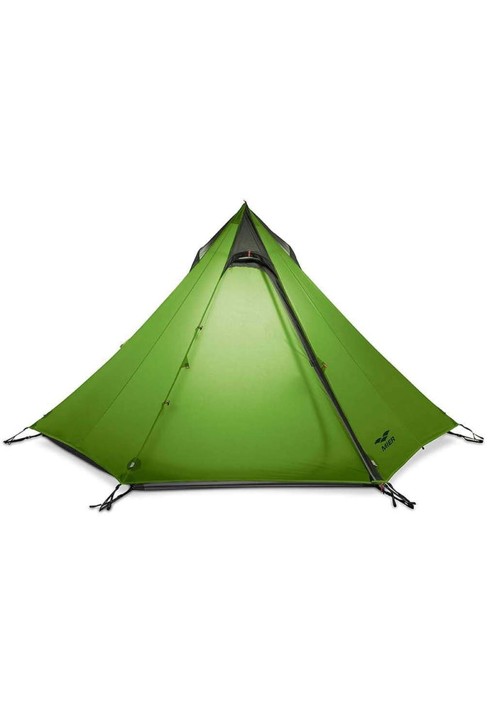 MIER 2-3 Person Ultralight Outdoor Camping Tent Waterproof Backpacking Pyramid Tent, 3 Season tent Yellowgreen MIER