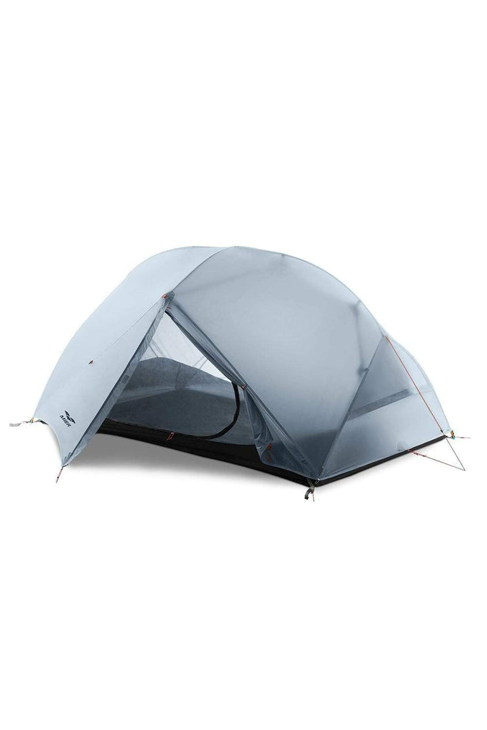 MIER 2-Person Camping Tent Easy Setup Lightweight Backpacking Tent with Footprint, 3 Season and 4 Season Dome Tent tent Slategray / 3 SEASON MIER