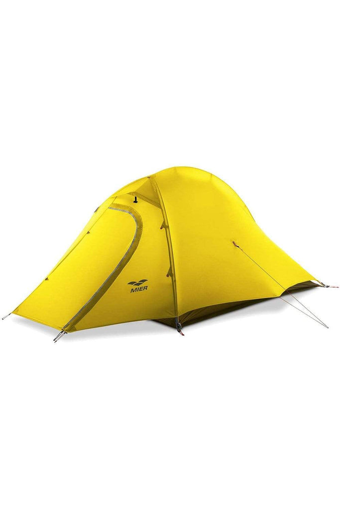 MIER 2 Person Camping Tent with Footprint Waterproof Backpacking Tent, 3 Seasons and 4 Seasons tent 3 Seasons / Yellow MIER
