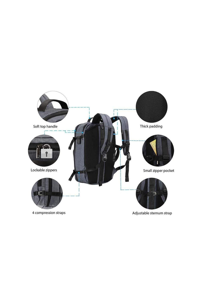 MIER Anti Theft Carry On Bag 17 Inches Laptop Backpack for Travel School Business Backpack Bag MIER