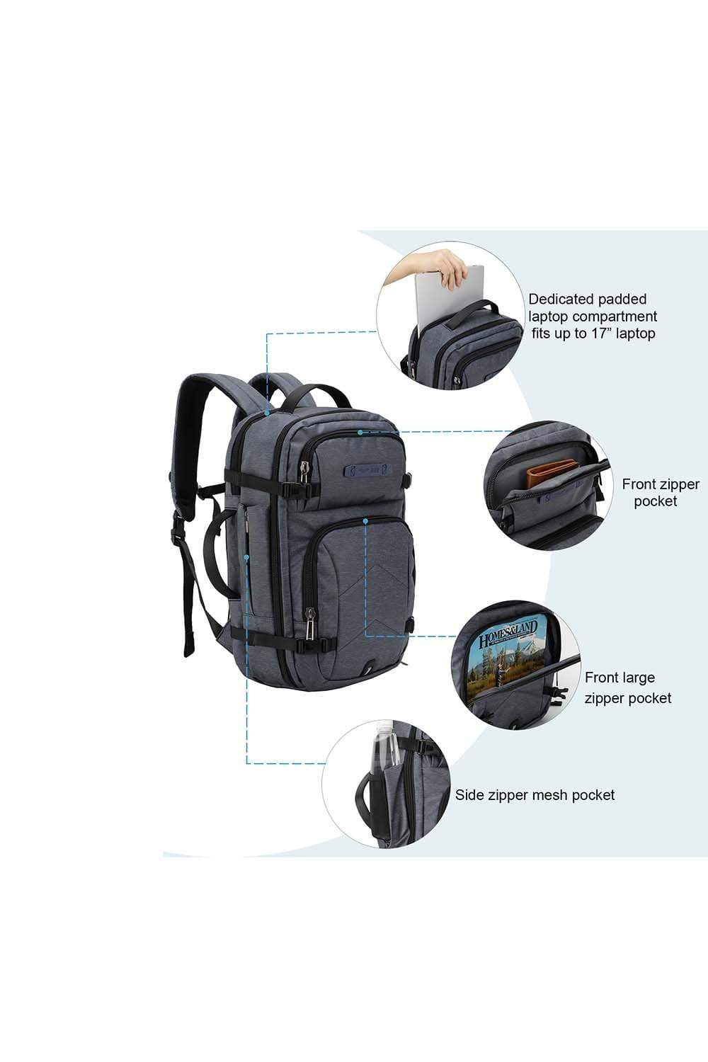details of the backpack