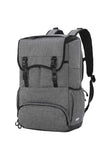 MIER Double Decker Insulated Backpack Cooler with Laptop Compartment Cooler Bag Gray MIER