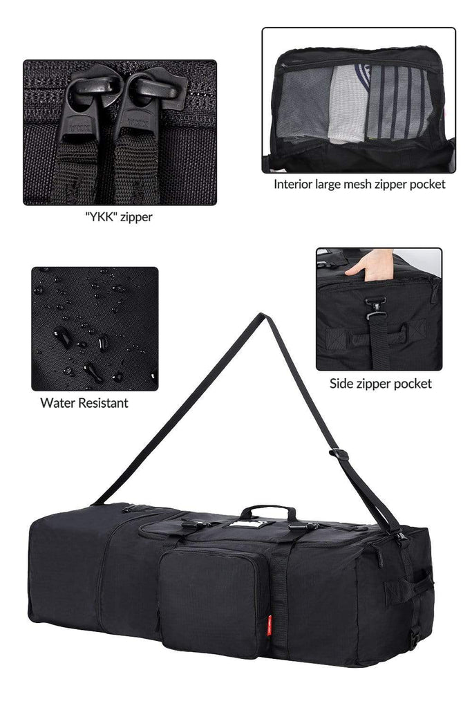 MIER Expandable Cargo Duffel Bag Foldable Lightweight Sports Equipment Bag Duffel bag/ Gym bag MIER