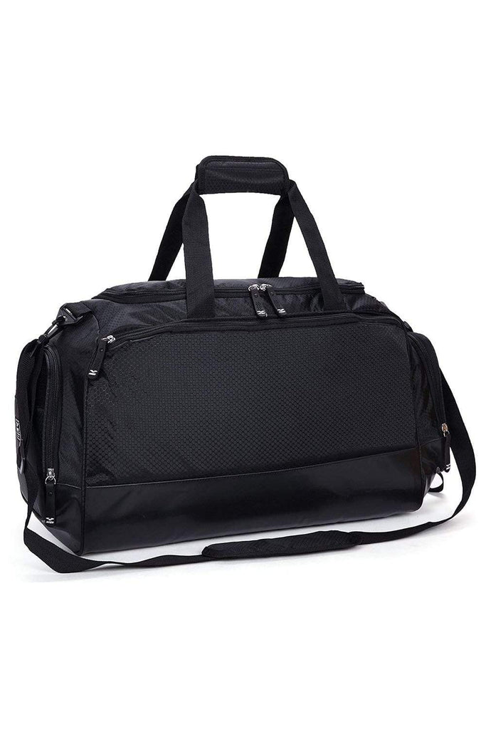 MIER Gym Bag with Shoe Compartment Men Travel Sports Duffel, 24 Inches, Black Sports Bag Black MIER