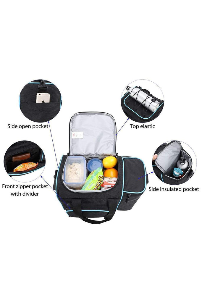 MIER Large Adult Lunch Bag Replacement Liner Cooler Bag Black MIER