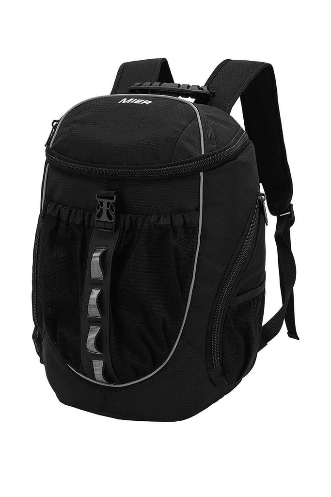MIER Leakproof Backpack Cooler Men Women Insulated Backpack with Cooler Compartment for Lunch, Hiking, Beach, Picnic Backpack Cooler Black MIER
