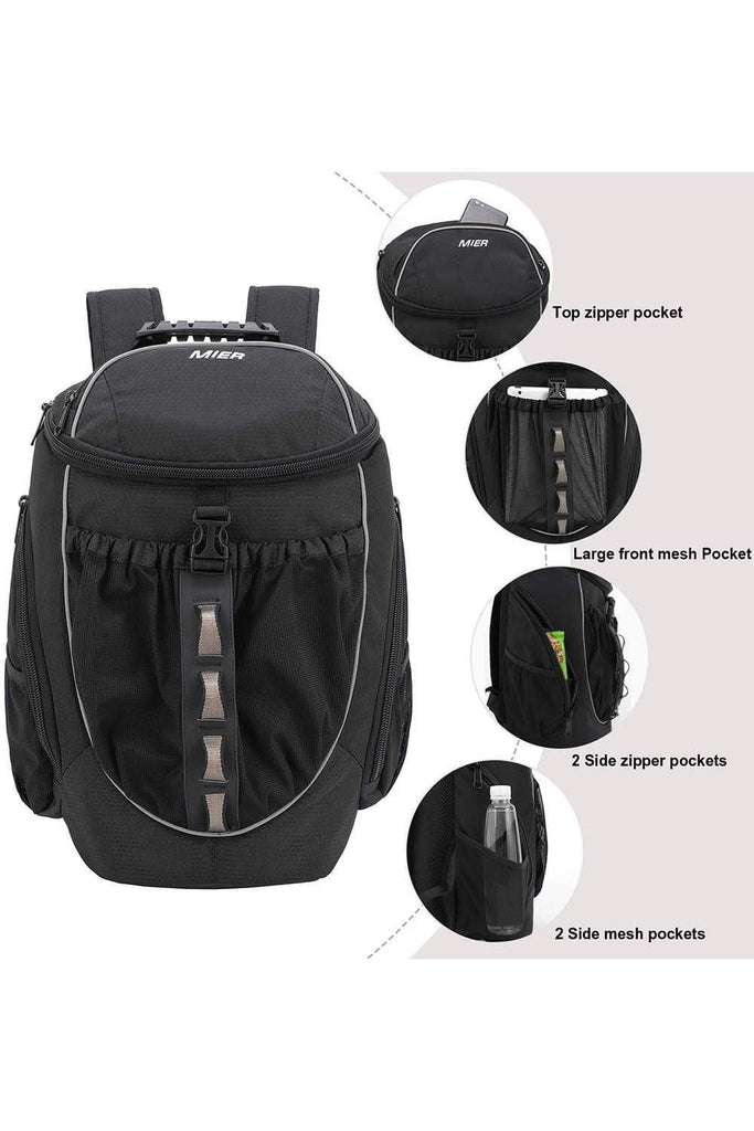 MIER Leakproof Backpack Cooler Men Women Insulated Backpack with Cooler Compartment for Lunch, Hiking, Beach, Picnic Backpack Cooler MIER