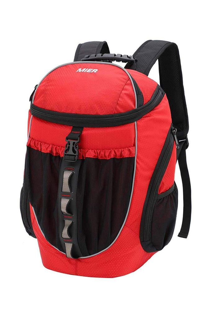 MIER Leakproof Backpack Cooler Men Women Insulated Backpack with Cooler Compartment for Lunch, Hiking, Beach, Picnic Backpack Cooler Red MIER