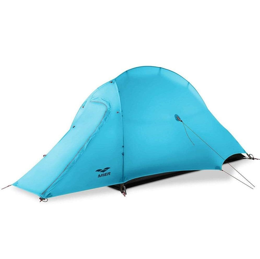 MIER Lightweight 1-Person Tent Easy Setup Outdoor Backpacking Tent, Footprint Included, Waterproof, 3 Season,4 Season tent 3 Season / Aqua MIER