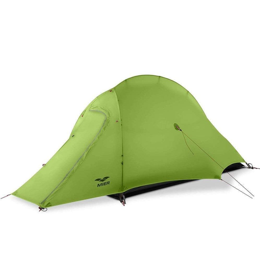 MIER Lightweight 1-Person Tent Easy Setup Outdoor Backpacking Tent, Footprint Included, Waterproof, 3 Season,4 Season tent 3 Season / Greenyellow MIER