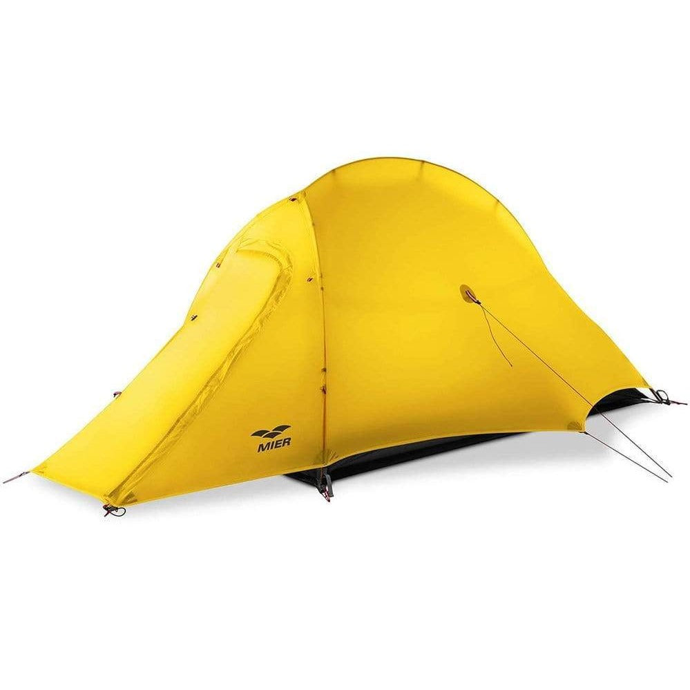 MIER Lightweight 1-Person Tent Easy Setup Outdoor Backpacking Tent, Footprint Included, Waterproof, 3 Season,4 Season tent 4 Season / Yellow MIER
