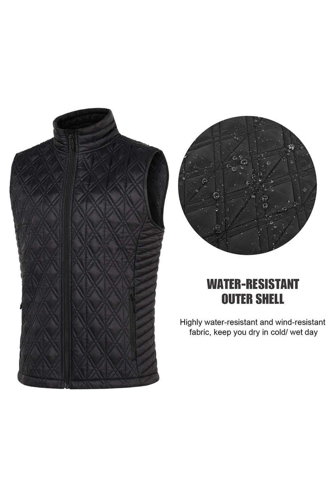 MIER Men's Lightweight Quilted Vest Padding Full Zip Insulated Vest for Outdoors, Travel VEST MIER