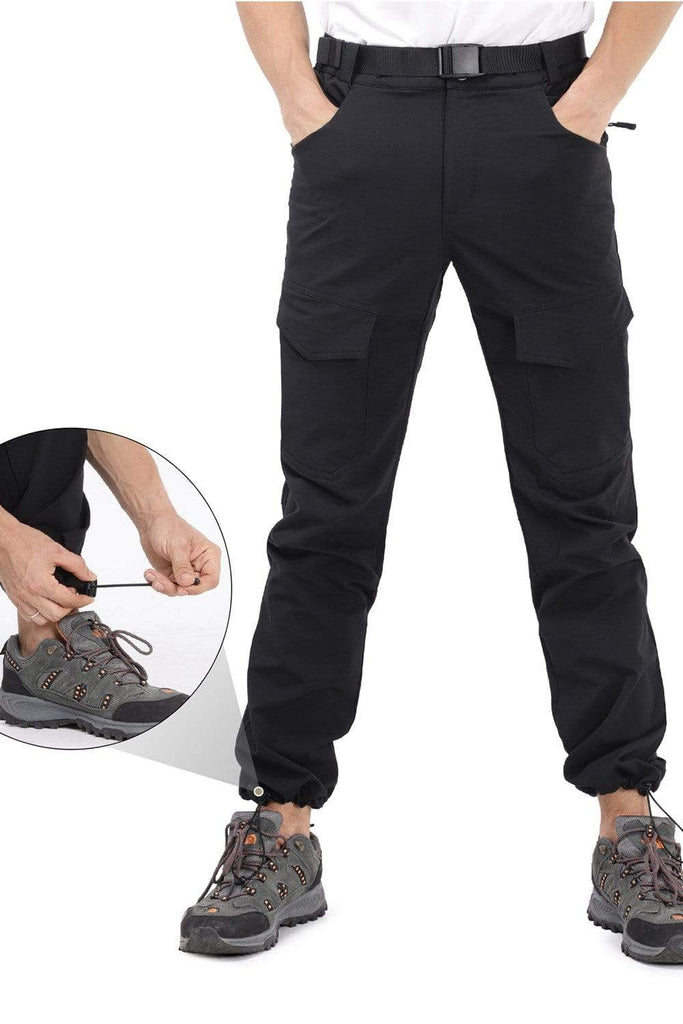 MIER Men's Nylon Hiking Pants Stretch Outdoor Travel Cargo Pants for Cold Weather with 7 Pockets Pants MIER