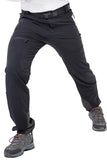 MIER Men's Nylon Outdoor Cargo Pants Water Resistant Stretch Hiking Pants with Large Zipper Pockets Men's pants S / Black MIER