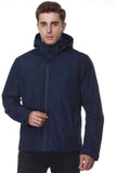 MIER Men's Rain Jackets Rain Shell with Hideaway Hood Waterproof for Outdoor, XXL Jackets&Coats XXL / Navy MIER
