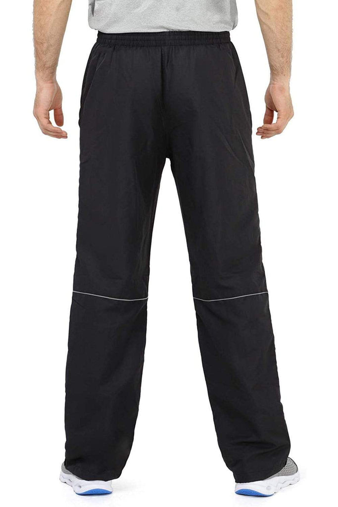 MIER Men's Sports Pants Warm Up Pants with Zipper Pockets for Workout, Gym, Running, Training Pants MIER