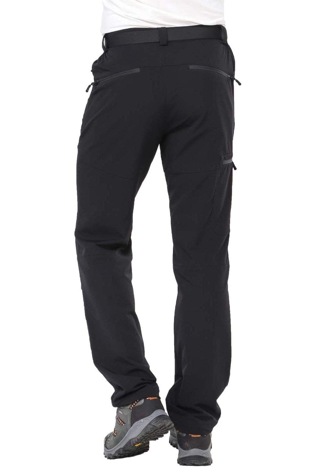 MIER Men's Stretch Cargo Hiking Pants Water Resistant Tactical Pants with 5 Zipper Pockets