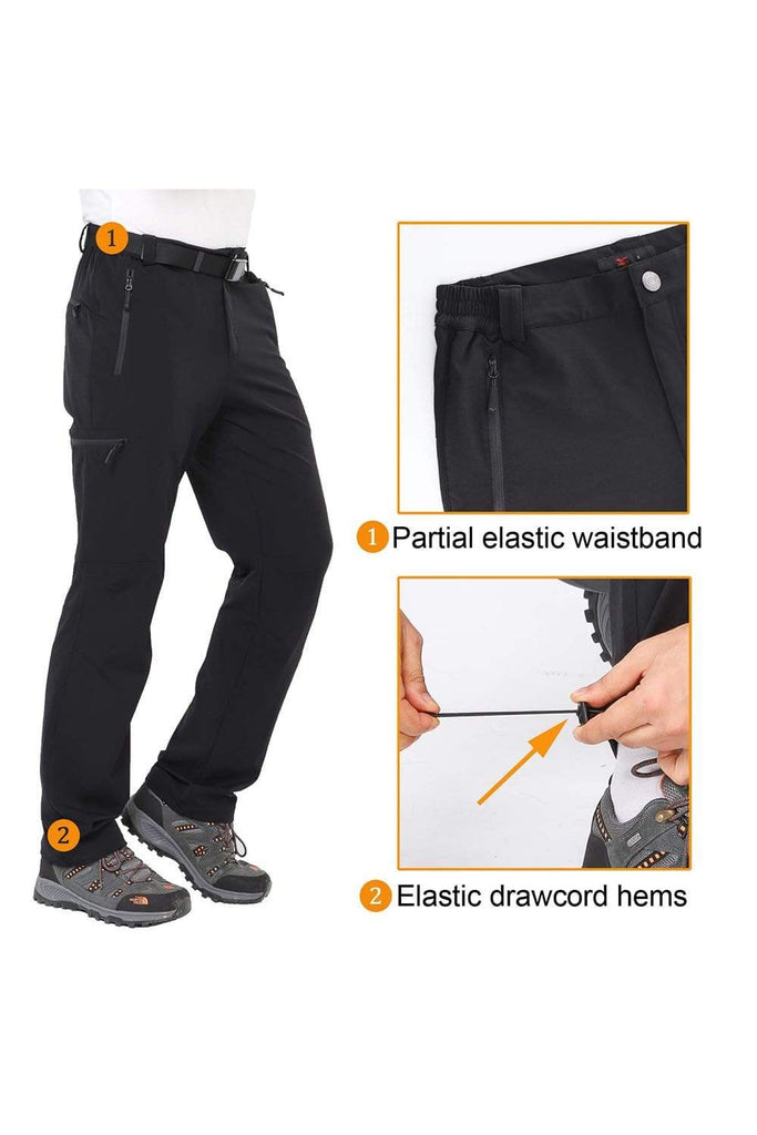 MIER Men's Stretch Cargo Hiking Pants Water Resistant Tactical Pants with 5 Zipper Pockets Men's pants MIER