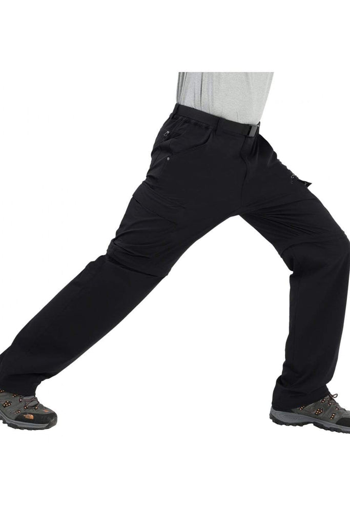 MIER Men's Tactical Cargo Pants Quick Dry Convertible Hiking Pants with 7 Pockets Hiking Pants 32 / Black MIER