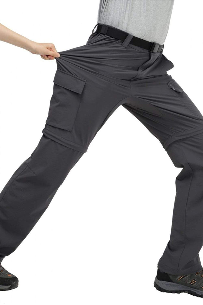 MIER Men's Tactical Cargo Pants Quick Dry Convertible Hiking Pants with 7 Pockets Hiking Pants 32 / Dimgray MIER