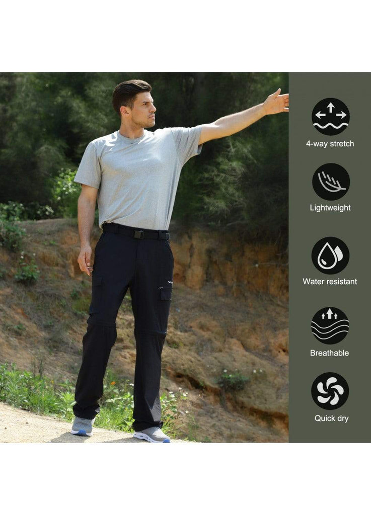MIER Men's Tactical Cargo Pants Quick Dry Convertible Hiking Pants with 7 Pockets Hiking Pants MIER