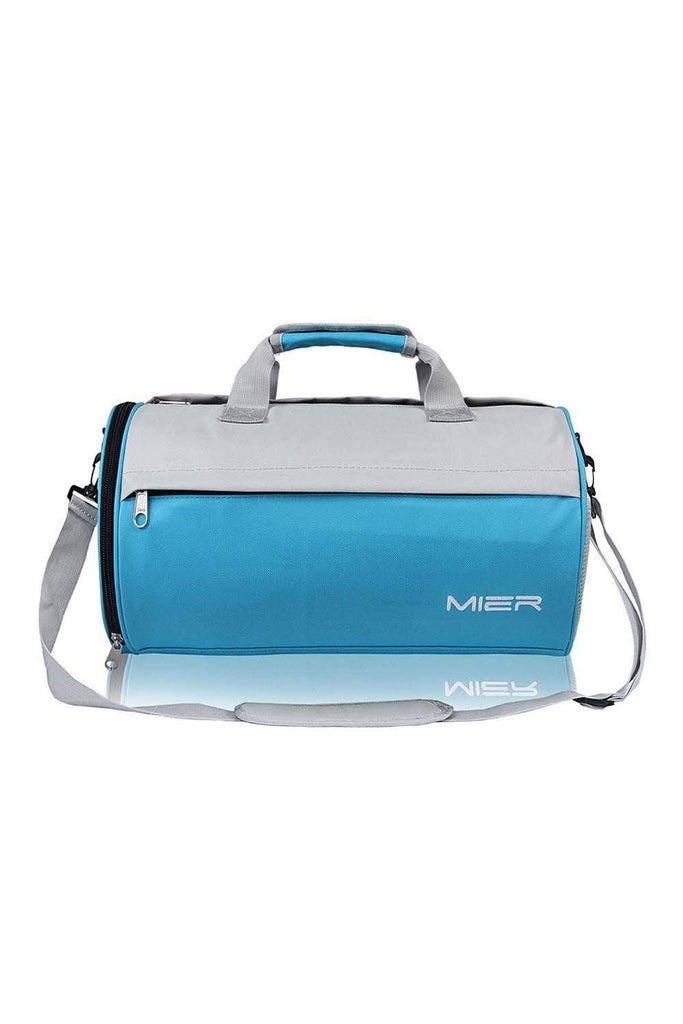 MIER Small Gym Bag for Men Women Carry On Duffel with Wet Pocket,YKK Zip, 20 Inches, Black Duffel bag/ Gym bag Skyblue MIER