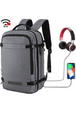 MIER Travel Backpack 17 Inches Laptop Carry On Daypack with USB Charging Port, Dark Blue Backpack Bag Lightgray MIER