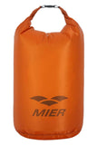 MIER Ultra Lightweight Dry Sack Waterproof Roll Top Dry Bag, Cordura Fabric, 2L / 5L / 10L/ 15L / 20L / 25L 2L / Orange MIER