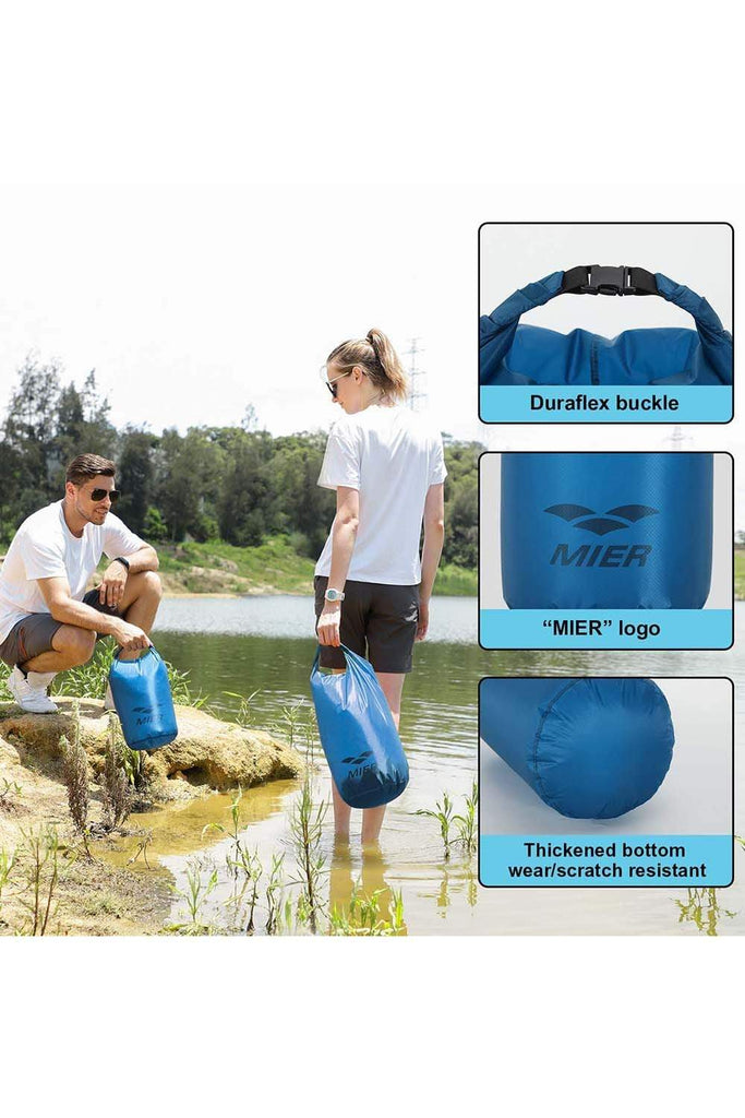 MIER Ultra Lightweight Dry Sack Waterproof Roll Top Dry Bag, Cordura Fabric, 2L / 5L / 10L/ 15L / 20L / 25L MIER