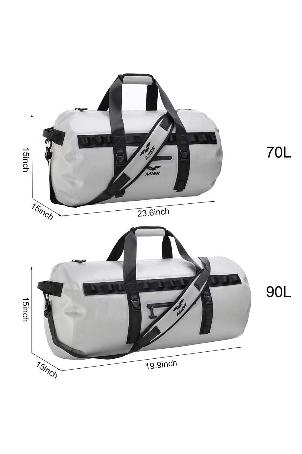 Waterproof Dry Duffel Bag Airtight TPU Bag for Rafting, Skiing