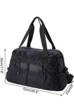 MIER Women's Gym Bag with Shoe Compartment Travel Duffel Bag Tote, 20 inch, Black Duffel bag/ Gym bag 20 Inch / Black MIER