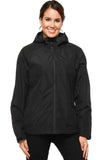 MIER Women's Packable Rain Jacket with Hood Waterproof Rain Shell Windbreaker for Outdoor Rain jacket S / Black MIER