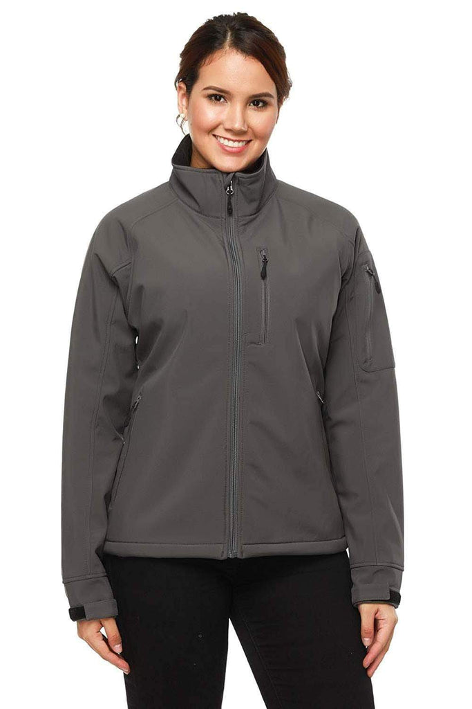 MIER Women's Windproof Softshell Jacket Front Zip Tactical Jacket Softshell jacket XS / Dimgray MIERSPORTS