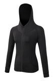 MIER Women's Yoga Fitness Full Zip Hoodie Sweatshirt Yoga Black MIER