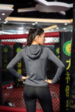 Women's Yoga Fitness Full Zip Hoodie Sweatshirt