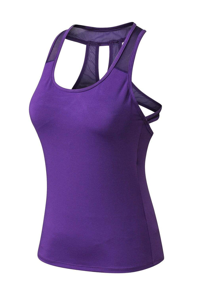 MIER Women's Yoga Sexy Tight-fitting Vest Quick-drying High Elasticity Breathable Vest VEST MIER