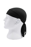 Moisture Wicking Cycling Head Wraps Cycling Cap Black MIER