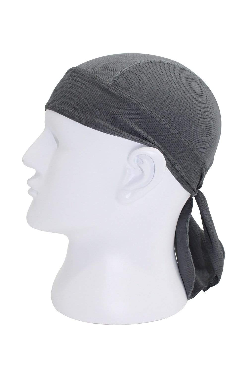 Moisture Wicking Cycling Head Wraps Cycling Cap Dark Gray MIER