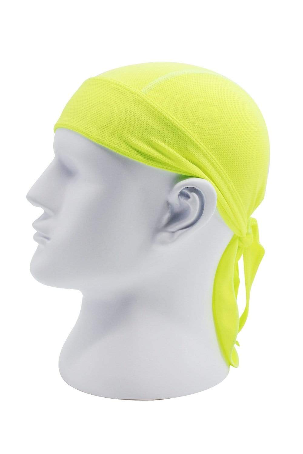 Moisture Wicking Cycling Head Wraps Cycling Cap Fluorescent Green MIER