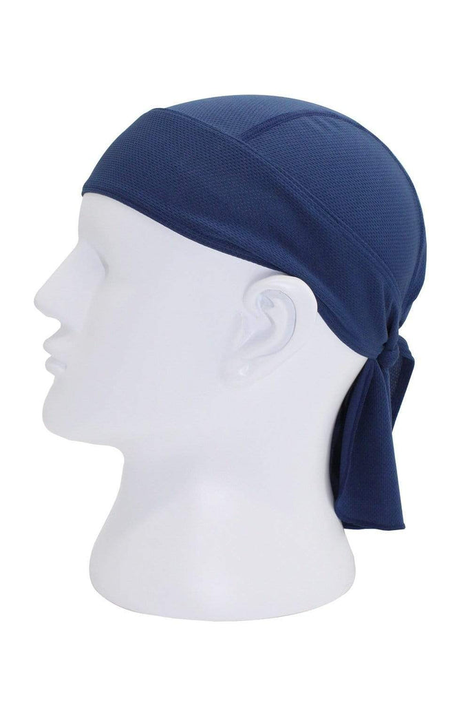 Moisture Wicking Cycling Head Wraps Cycling Cap Navy Blue MIER