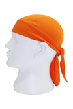 Moisture Wicking Cycling Head Wraps Cycling Cap Orange MIER