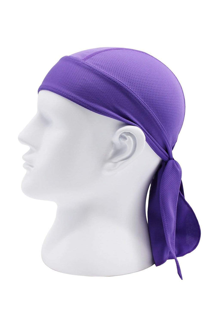 Moisture Wicking Cycling Head Wraps Cycling Cap Purple MIER