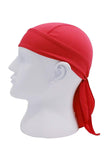 Moisture Wicking Cycling Head Wraps Cycling Cap Red MIER