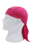 Moisture Wicking Cycling Head Wraps Cycling Cap Rose Red MIER