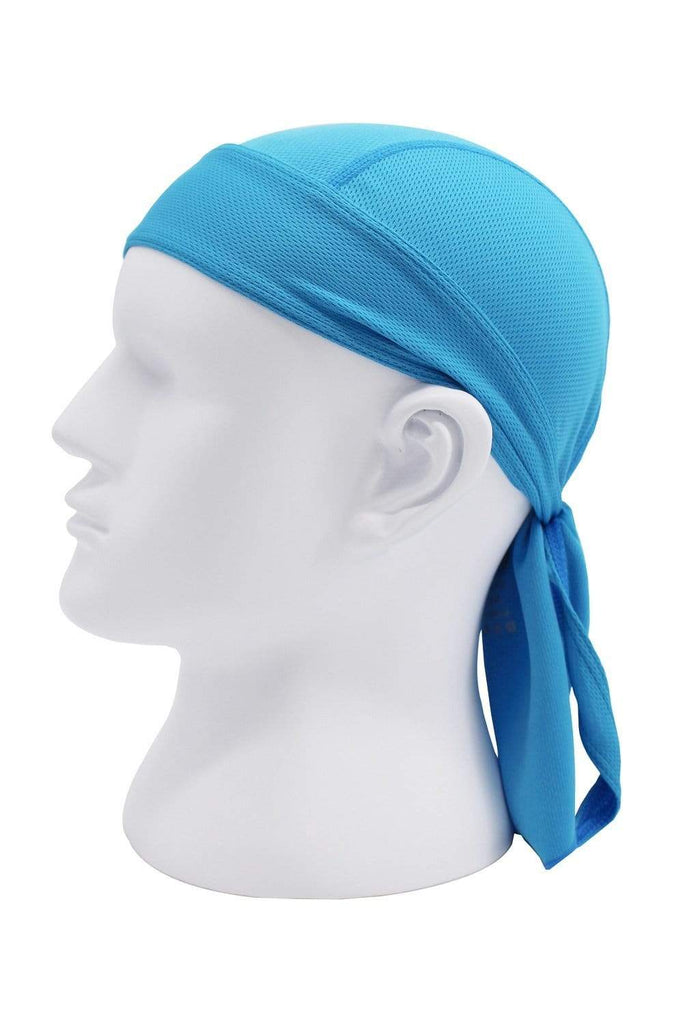 Moisture Wicking Cycling Head Wraps Cycling Cap Sky Blue MIER