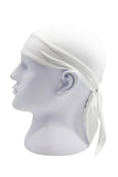 Moisture Wicking Cycling Head Wraps Cycling Cap White MIER