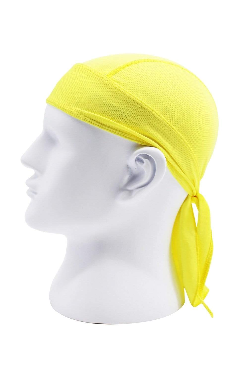 Moisture Wicking Cycling Head Wraps Cycling Cap Yellow MIER