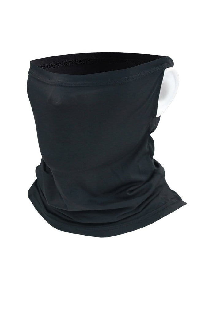 Neck Gaiter Face Cover UV Protection Cycling Mask Cycling Black-01 MIER