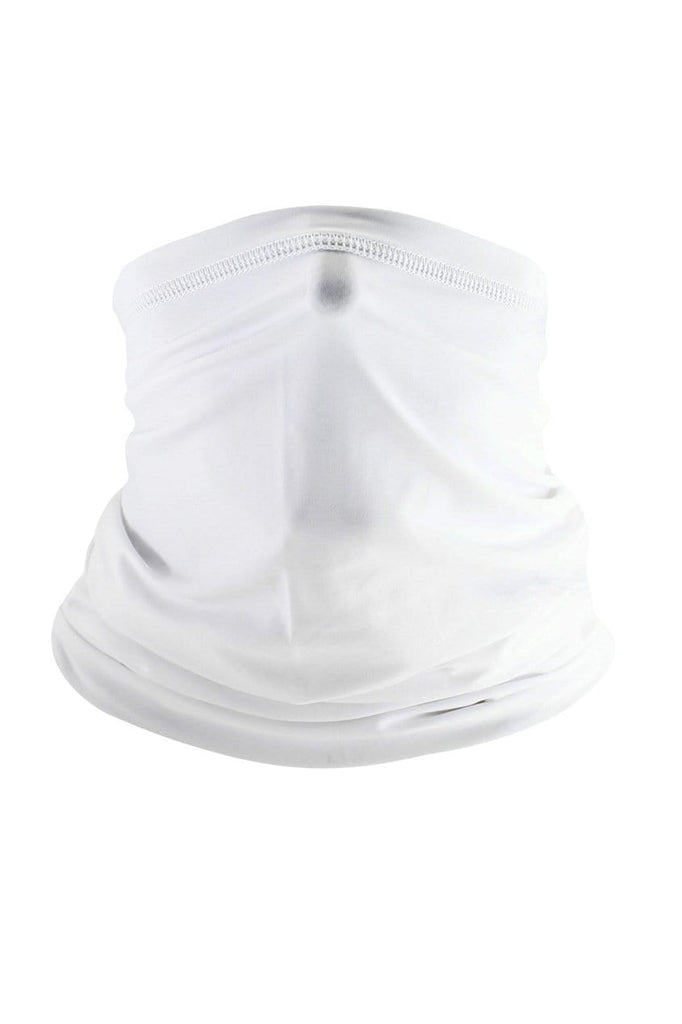 Neck Gaiter Face Cover UV Protection Cycling Mask Cycling White MIER